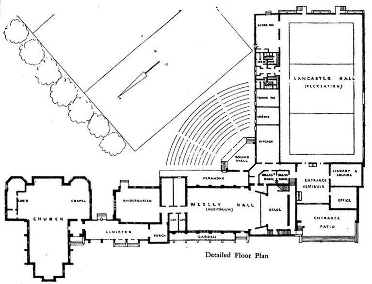 Wesley Centre Foundation Plans - 26 May 1962